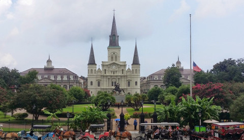 Die St. Louis Cathedral am Jackson Square