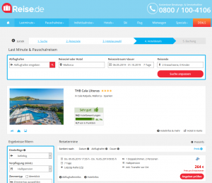 Screenshot Mallorca Deal THB Cala Lliteras