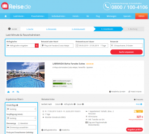 Screenshot Teneriffa Deal LABRANDA Bahia Fanabe Suites