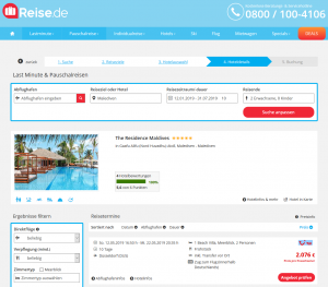 Screenshot Malediven Deal The Residence Maldives