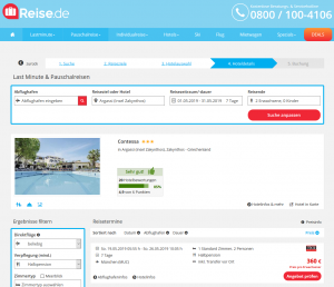 Screenshot Zakynthos Deal Hotel Contessa